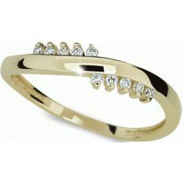 Danfil Krásný zlatý prsten DF2064z 49 mm