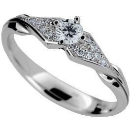Danfil Luxusní zásnubní prsten s diamanty DF2104b 52 mm