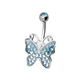 Tribal Piercing do pupíku AXBUTTERFLY-C 1,6 x 8 mm