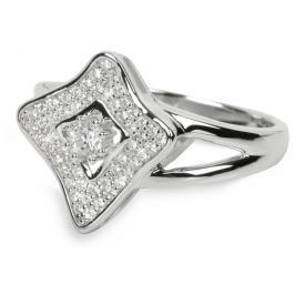 Silver Cat Stříbrný prsten s krystaly SC067 58 mm