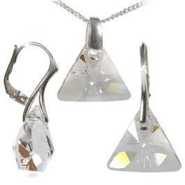 MHM Souprava šperků Triangle Crystal Ag 34197