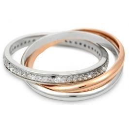 Silver Cat Stříbrný prsten s krystalky SC121 56 mm