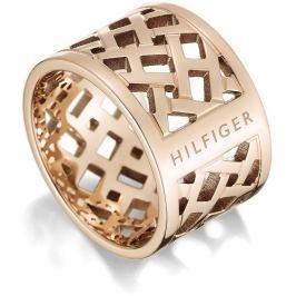 Tommy Hilfiger Originální pozlacený prsten z oceli TH2700744 58 mm