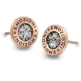 Hot Diamonds Stříbrné náušnice Hot Diamonds Emozioni Pianeta Rose Gold DE403