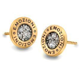 Hot Diamonds Stříbrné náušnice Hot Diamonds Emozioni Pianeta Gold DE404