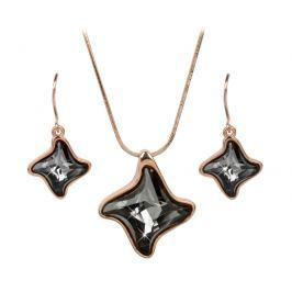 Troli Bronzová sada náhrdelníku a náušnic Twister Silver Night