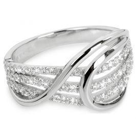Silver Cat Stříbrný prsten se zirkony SC186 58 mm