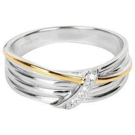 Silver Cat Pozlacený stříbrný prsten se zirkony SC189 54 mm