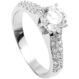 Brilio Silver Stříbrný zásnubní prsten 5170675 58 mm