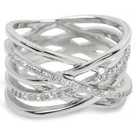 Brilio Silver Stříbrný prsten se zirkony 31G3071 54 mm