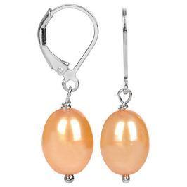 JwL Luxury Pearls Stříbrné náušnice s pravou zlatavou perlou JL0277