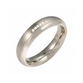 Boccia Titanium Titanový snubní prsten s diamanty 0130-09 57 mm