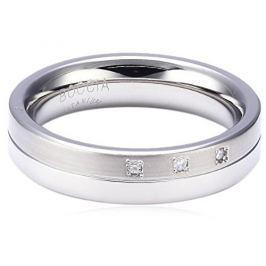 Boccia Titanium Titanový snubní prsten s diamanty 0129-03 54 mm