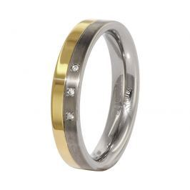 Boccia Titanium Snubní titanový prsten s diamanty 0129-04 50 mm