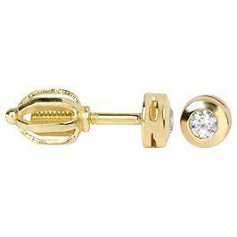 Brilio Zlaté náušnice s krystaly 236 001 00634 - 1,15 g