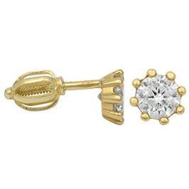 Brilio Zlaté náušnice s krystalem 236 001 00895 - 1,45 g