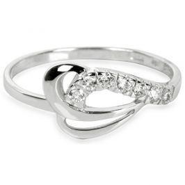 Brilio Prsten z bílého zlata s krystaly 229 001 00583 07 - 1,30 g 58 mm
