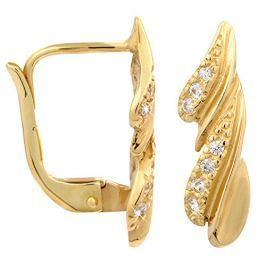 Brilio Zlaté náušnice s krystaly 239 001 00748 - 2,20 g