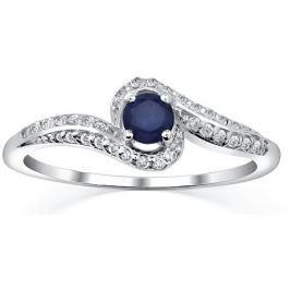 Silvego Stříbrný prsten se safírem Idonea FNJR016sa 52 mm