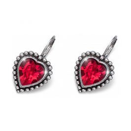 Oliver Weber Romantické náušnice s červenými krystaly Beach Antique Heart 22637 227
