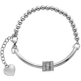 Hot Diamonds Stříbrný náramek se srdíčkem a diamantem Parade DL533