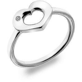 Hot Diamonds Stříbrný prsten s diamantem Emerge Heart DR161 52 mm