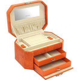 Friedrich Lederwaren Šperkovnice oranžová/béžová s ještěrčím vzorem New Candy 23251-61
