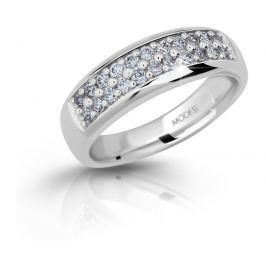 Modesi Třpytivý stříbrný prsten se zirkony M11083 50 mm