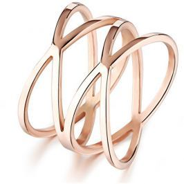 Troli Romantický bronzový prsten z oceli KRS-275 54 mm