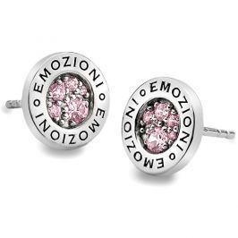 Hot Diamonds Sříbrné náušnice Emozioni Scintilla Pink Compassion EE002