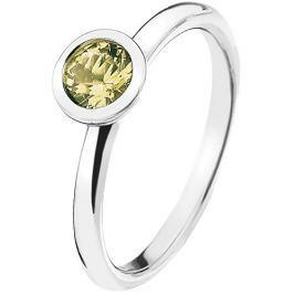 Hot Diamonds Stříbrný prsten Emozioni Scintilla Peridot Nature ER019 56 mm
