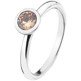 Hot Diamonds Stříbrný prsten Emozioni Scintilla Champagne Loyalty ER016 52 mm