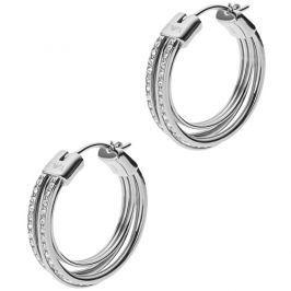 Emporio Armani Ocelové náušnice kruhy s krystaly EGS2195040
