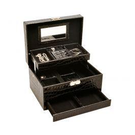 JK Box Elegantní černá šperkovnice SP-587/A25