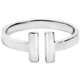 Troli Otevřený ocelový prsten pro ženy 54 mm