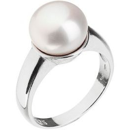 Evolution Group Stříbrný perlový prsten 25001.1 58 mm
