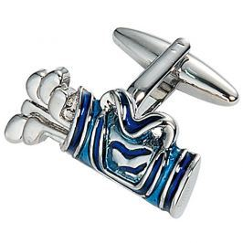 Starck Schmuck Manžetové knoflíčky Golfový bag modrý 40.207R