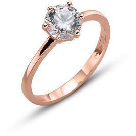 Oliver Weber Růžově pozlacený stříbrný prsten Brilliance 63222RG S (49 - 52 mm)