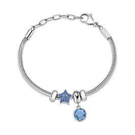 Morellato Náramek s modrými přívěsky Drops SCZ935
