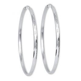Brilio Silver Stříbrné náušnice kruhy 431 158 00033 - 7,86 g