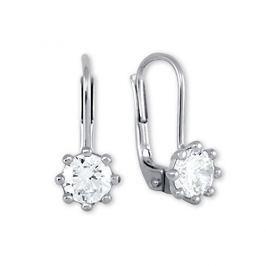 Brilio Silver Stříbrné náušnice s krystaly 436 001 00235 04 - 1,28 g