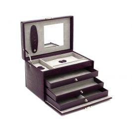 Friedrich Lederwaren Šperkovnice fialová/šedá Classico 23236-56