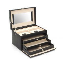 Friedrich Lederwaren Šperkovnice černá/béžová Jolie 23256-20