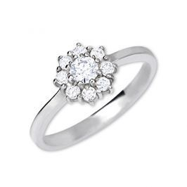 Brilio Silver Stříbrný zásnubní prsten 426 001 00432 04 - čirý - 2,30 g 52 mm