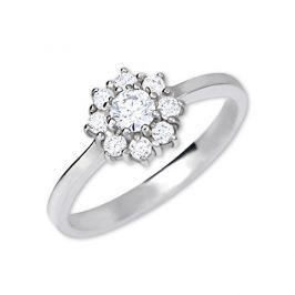 Brilio Silver Stříbrný zásnubní prsten 426 001 00432 04 - čirý - 2,30 g 62 mm