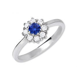 Brilio Silver Stříbrný zásnubní prsten 426 001 00432 04 - modrý - 2,30 g 54 mm