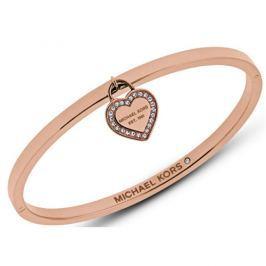 Michael Kors Pevný bronzový náramek se srdcem MKJ5039791 - SLEVA
