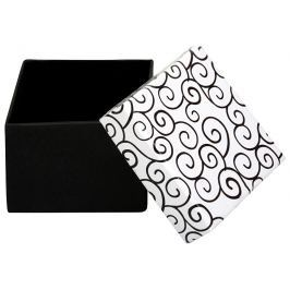 JK Box Černobílá krabička na náušnice a prsten AB-3/A1