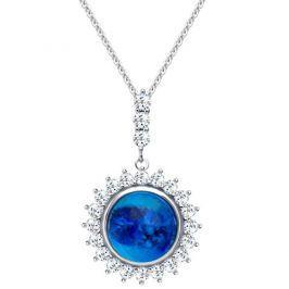 Preciosa Stříbrný náhrdelník Camellia 6106 68