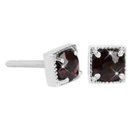 Brilio Silver Stříbrné náušnice s granáty 437 055 03380 04 - 1,34 g
